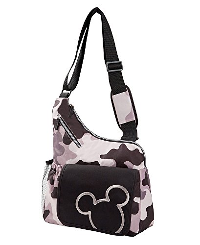 Disney Mickey Mouse Messenger Style Diaper Bag, Gray