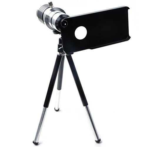 Greattree 12X Optical Zoom Mobile Phone Camera Telescope Lens W/ Aluminum Tripod & Case For Iphone 4S /Iphon4