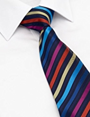 Machine Washable Multi-Striped Tie
