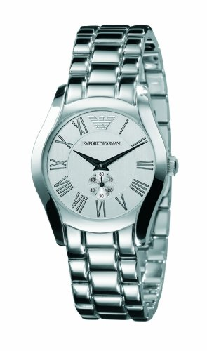Emporio Armani Silver Dial Ladies Strap Watch - AR0648