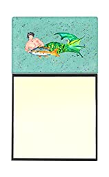 Caroline\'s Treasures 8345SN Merman Refillable Sticky Note Holder or Postit Note Dispenser, 3.25 by 5.5\