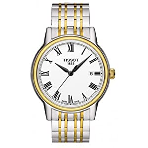 Tissot Carson White Dial Two-tone Mens Watch T0854102201300
