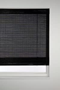 Sunlover Bamboo Wooden Roman Blinds Black W180cm Amazon