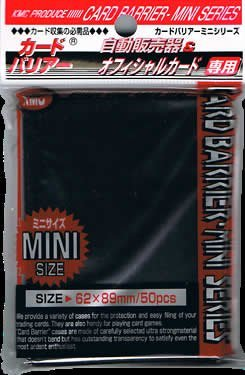 Mini Super Black Card Sleeves 50ct by KMC Sleeves