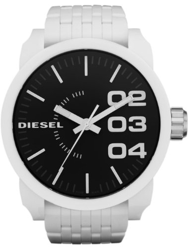 Diesel White Plastic Bracelet 50M Mens Watch - DZ1518