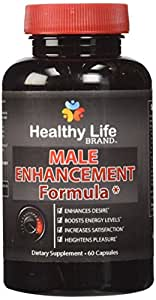 Male Enhancement Testosterone Booster - Healthy Life Brand - 100% All Natural Maca L-Arginine Tongkat Ali For Stamina Energy Top Rated Highest Quality Made in USA Pills
