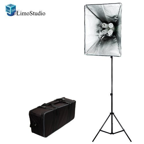 Limo studio 800 Watt Photo Studio Lighting Softbox Video Light Kit and Carry Case, AGG846 4 section medicine pill storage box case green