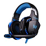 KOTTON Each G2000 Stereo Gaming Headset for PS4 Xbox One, Bass Over-Ear Headphones (Black Blue) (Color: Black Blue)