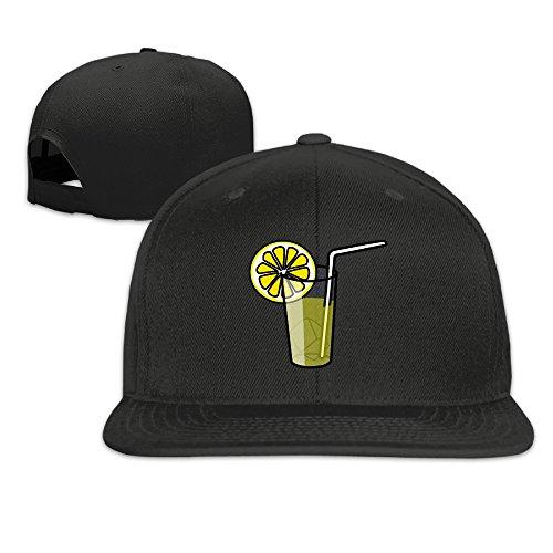 unisex-lemonade-juice-clip-art-adjustable-snapback-trucker-cap-100cotton-black-one-size