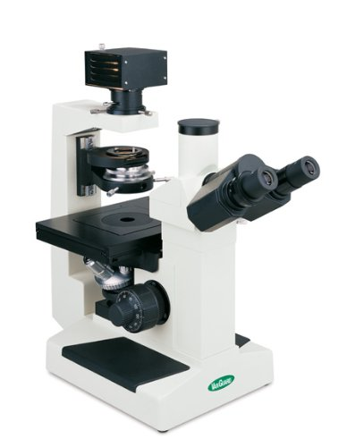 Vanguard 1293Cmi Brightfield, Phase Contrast Inverted Microscope With Trinocular Head, Halogen Illumination, 10X, 25X, 40X Magnification