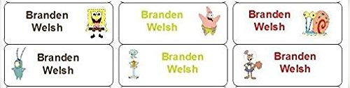 30 Personalized Waterproof Name Labels Spongebob Squarepants Labels Patrick Star Spongebob Name Labels Personalized Name Labels Personalized Tags Favor Tags Daycare Labels