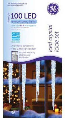 Santa'S Best Craft Llc Ge 96Ct Wht Led Icicle Ge99052 Christmas Lights Led/Energy Saving