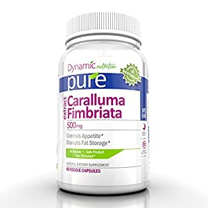 Caralluma Fimbriata Extract 1000mg Per Serving for Weight Loss, 30 Day Supply! (60 Veggie Capsules)
