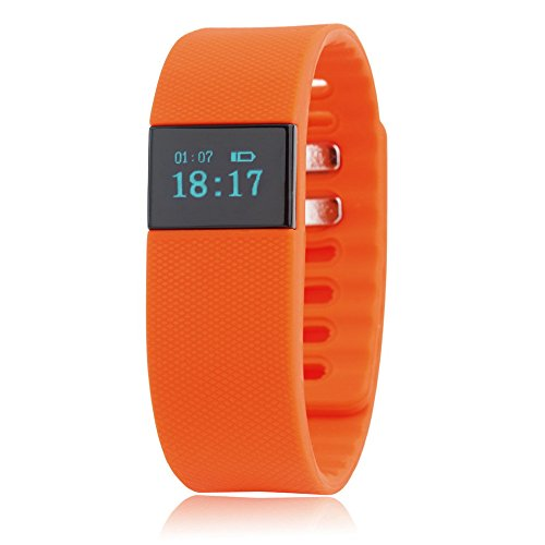 Orange Bluetooth Smartband Smart Watch Wristband Wrist Band Wrap with Pedometer for Android IOS