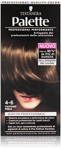 Testanera - Palette, Crema Colorante, 4-6 Castano Miele