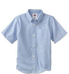 Dickies Big Boys\' Short Sleeve Oxford Shirt, Light Blue, Medium (10/12)