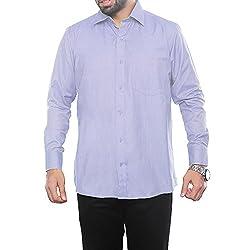 VinaraTrends Purple(Light) Color Poly Cotton Shirt For Men (40)