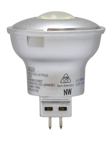 Benchmark By Viribright 4.5W Mr Narrow Flood 60-Degree, Gx5.3 Bi-Pin Base, 12V Dc Non-Dimmable Led Light Bulb, Daylight 6000K 240 Lumens (Replaces 25W Halogen Mr16)
