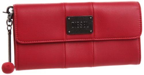 Diesel AMAZONITE X01285 PR472, Portafoglio donna, 19x10x3 cm (L x A x P), Rosso (Rot (Barberry/Silver H4459)), 19x10x3 cm (L x A x P)