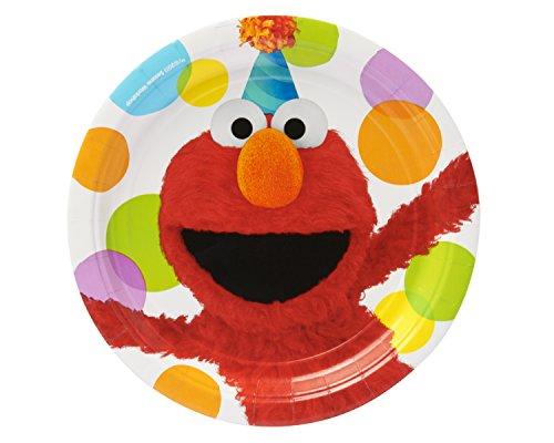 Amscam Elmo Lunch Plate, Multicolor