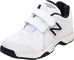 New Balance KV624 Hook and Loop Training Shoe (Little Kid/Big Kid),WhiteNavyHookandLoop,4 W US Big Kid