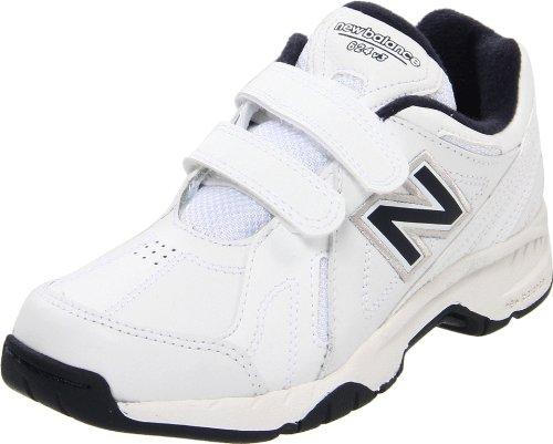 New Balance Kv624 Hook And Loop Training Shoe (Little Kid/Big Kid),White/Navy,4.5 M Us Big Kid front-981125