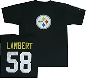Pittsburgh Steelers Jack Lambert Reebok Throwback Pro Style T Shirt