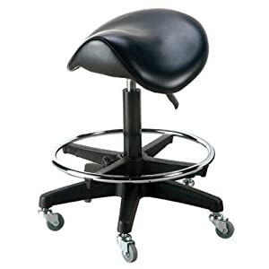 Amazon Com Saddle Stool Salon Rolling Stool Salon Stool