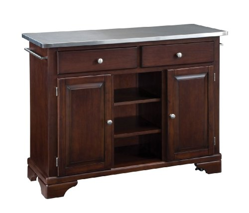 Cheap Kitchen Cart with Stainless Steel Top in Cherry Finish (VF_HY-9300-1072)