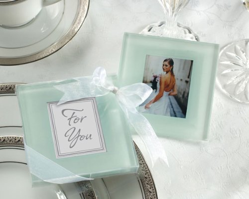 Glass coasters baby shower gifts amp wedding favors set of 24