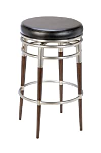 Hillsdale Salem 30-Inch Backless Swivel Bar Stool, Polished Chrome and Rich Maple Accents... by Hillsdale Furniture