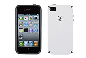 Speck Products CandyShell Case for iPhone 4 (Moonsicle White/Charcoal, Fits AT&T iPhone)