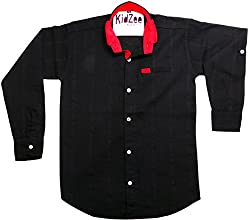 CAY 100% Cotton Black Color Designer Striped Shirt