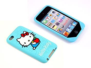 Amazon.com: Smile Case Hello Kitty Light Blue Silicone Full Cover ...