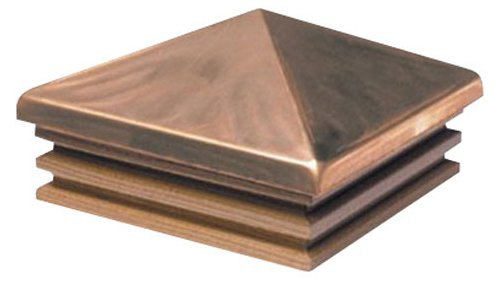 Woodway Products 870.1834 6-by-6-Inch Cedar Large Mission Pyramid Post Cap, 8-Pack, Copper