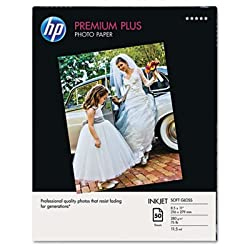 HP Premium Plus Photo Paper, soft Gloss (50 Sheets, 8.5 x 11 Inches)