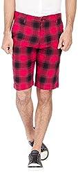 Urbantouch Men's Cotton Shorts(4592, Red, 32)