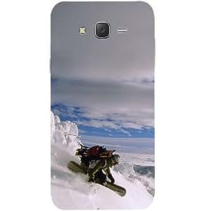 Casotec Skieng Design Hard Back Case Cover for Samsung Galaxy J2
