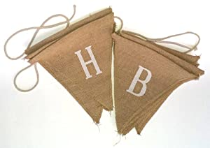 Burlap Happy Birthday Banner by Lily & Logan