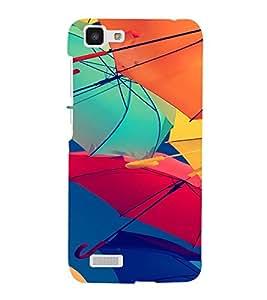 PrintVisa Colorful Umbrella Pattern 3D Hard Polycarbonate Designer Back Case Cover for VivoY27L