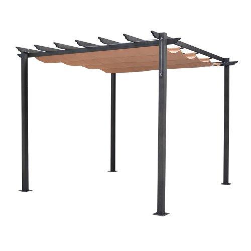 Bosmere perlat rowlinson latina free standing aluminum sun canopy with