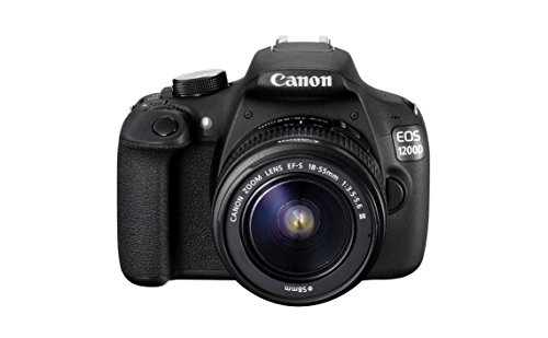 Canon-EOS-1200D-18MP-Digital-SLR-Camera-Black-with-EF-S-18-55mm-f35-56-IS-II-Lens-8GB-Card-and-Carry-Bag