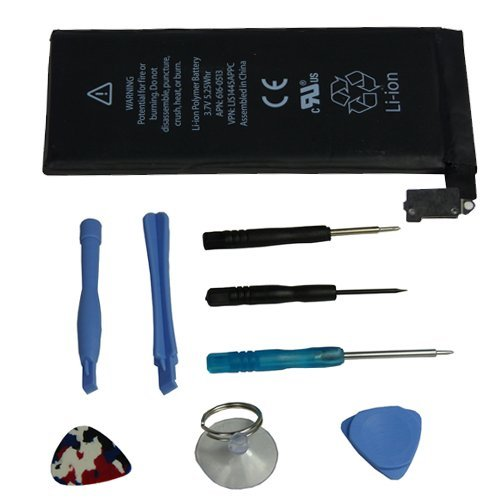 BrainyTrade Internal Battery For Iphone 4 4G 16G 32G 1420Mah With Multi Purpose Tool Kit (8 Pcs)