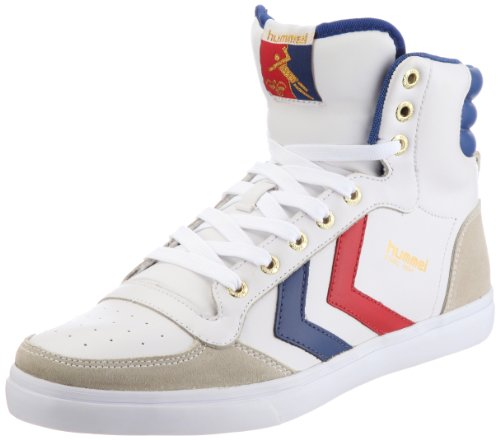 Hummel Men's Stadil High Trainer White/Blue/Red/Gum 630669228 7 UK