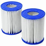 Twin Pack Bestway Size II Filter Cartridges for Pools & Lay-Z-Spas #58094