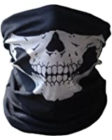 UrbanSource Black Seamless Skull Face Tube Mask BUFF