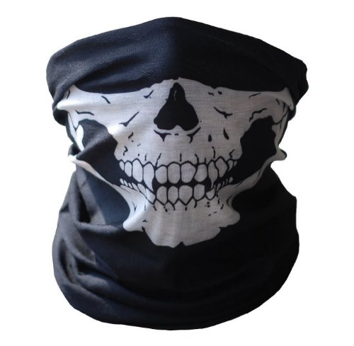 UrbanSource Black Seamless Skull Face Tube Mask
