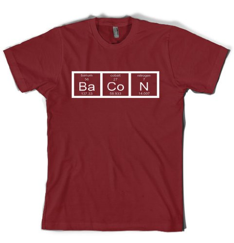 Chemistry Bacon t shirt