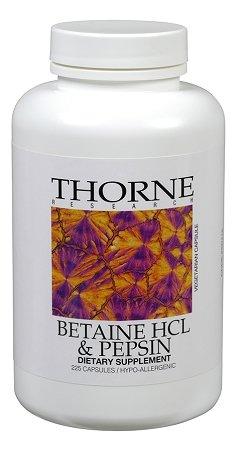 Betaine Hcl & Pepsin (225 Caps)