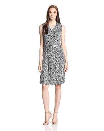 Jones New York Women's Sleeveless Belted Wrap Dress
